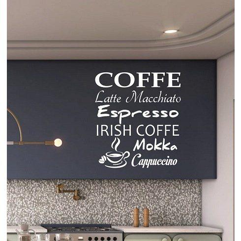 Falmatrcia, kávés dekoráció