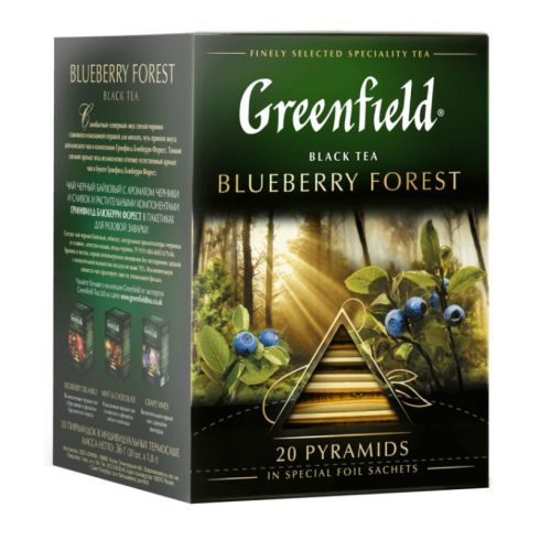 Greenfield Blueberry Forest  tea filter Piramis