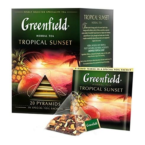 Greenfield Tropical Sunset  tea filter Piramis