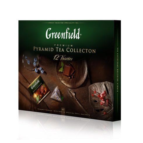 GREENFIELD ajándékcsomag 12 féle piramis tea 60db filterrel