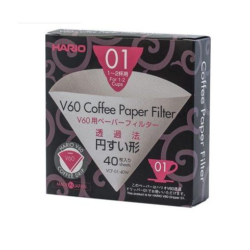 HARIO V60 fehér papír filter 1-2 adagos 40db