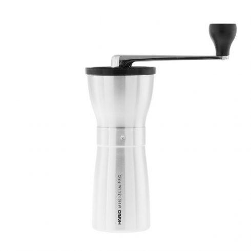 HARIO MINI MILL SLIM PRO ezüst kézi kávédaráló, kávéőrlő