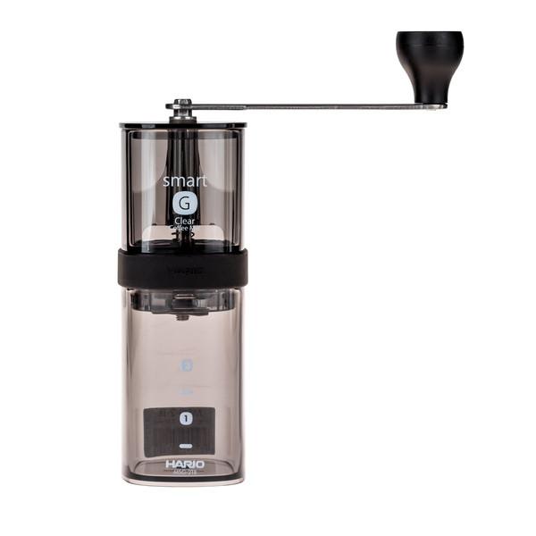 HARIO SMART G transparent black kézi kávédaráló, kávéőrlő