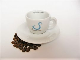Il Mingardi cappuccino csésze és alj