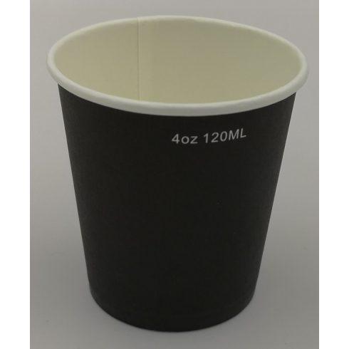 PAPÍRPOHÁR, kávéspohár fekete 120ml, 50db-os csomagban