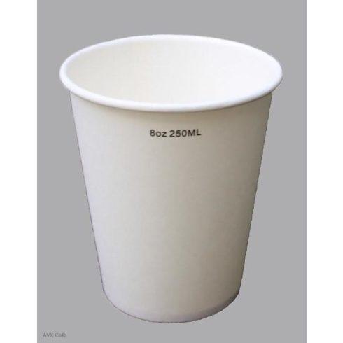 PAPÍRPOHÁR fehér 250ml, 50db-os csomagban
