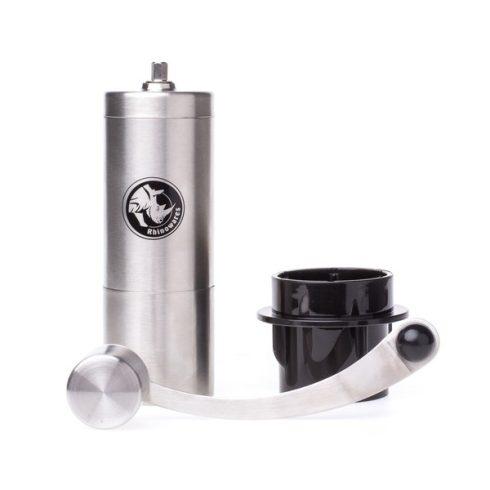 RHINOWARES kézi kávédaráló, kávéőrlő Aeropress adapterrel