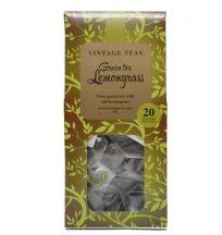 Vintage teapiramis - Zöld tea citromfűvel 20 x 2,5g