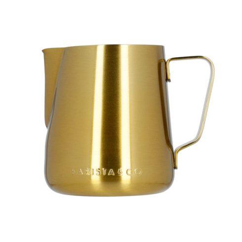 BARISTA & CO arany, mércés tejhabosító, tejkiöntő kancsó 420ml