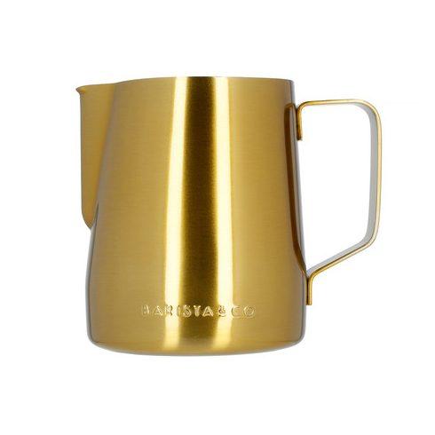 BARISTA & CO arany, mércés tejhabosító, tejkiöntő kancsó 600ml