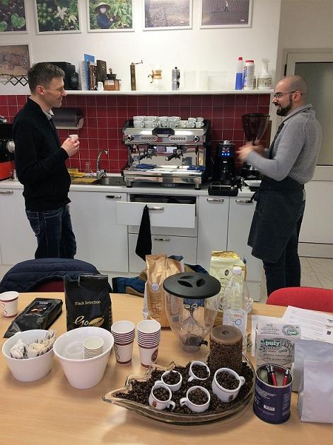 Goriziana caffé kávékóstolás