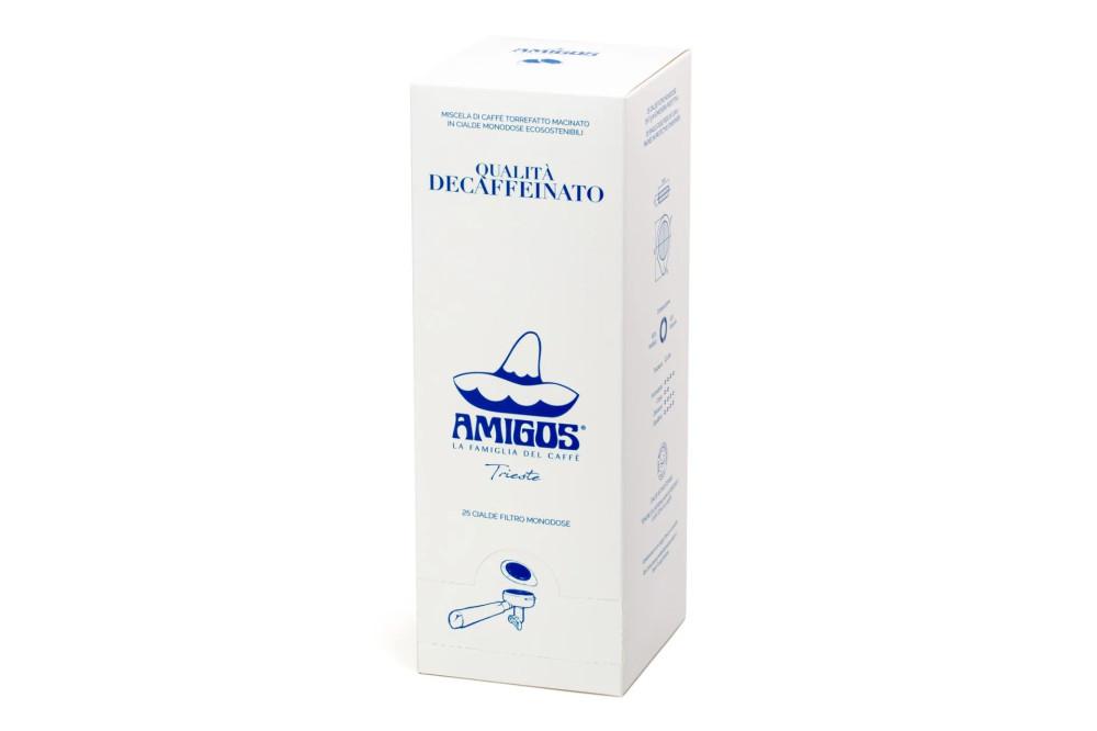 Amigos Decaffeinato koffeinmentes kávé pod, ESE pod 25db/doboz