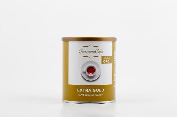 GORIZIANA CAFFÉ EXTRA GOLD őrölt kávé fémdobozos 250g