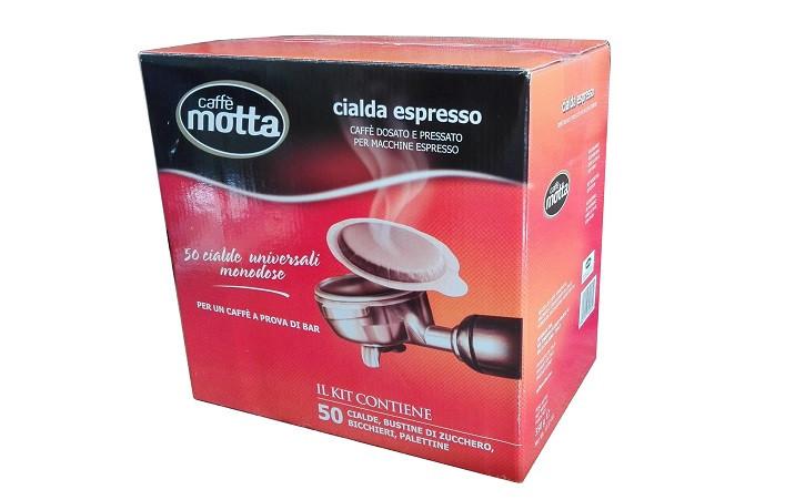 MOTTA kávépod ESE pod + cukor + pohár + keverőpálcika 50db-os készlet